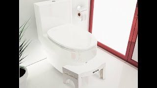 Snug EZ Folding Toilet Stool - 7 inch aka Squatty Potty  Unboxing Review by Slick