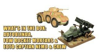 What's In The Box: Autoblinda, FoW Rocket Mortars & EOTD Captian Nemo & Crew