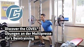 Übungen an der Multipresse für's Beintraining