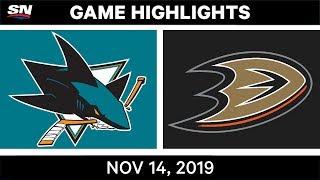 NHL Highlights   Sharks vs Ducks – Nov. 14, 2019