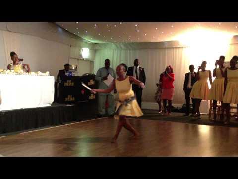 Zambian wedding cake cutting dance