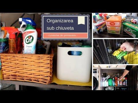 CURATENIE DE PRIMAVARA - Organizarea dulapului de sub chiuveta