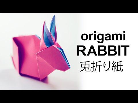 Origami Bunny Rabbit Tutorial - DIY - Paper Kawaii
