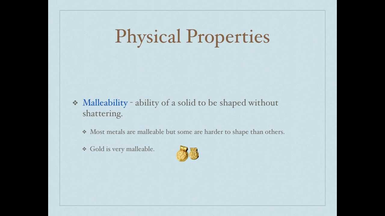 What Is All The Physical Properties Of Matter