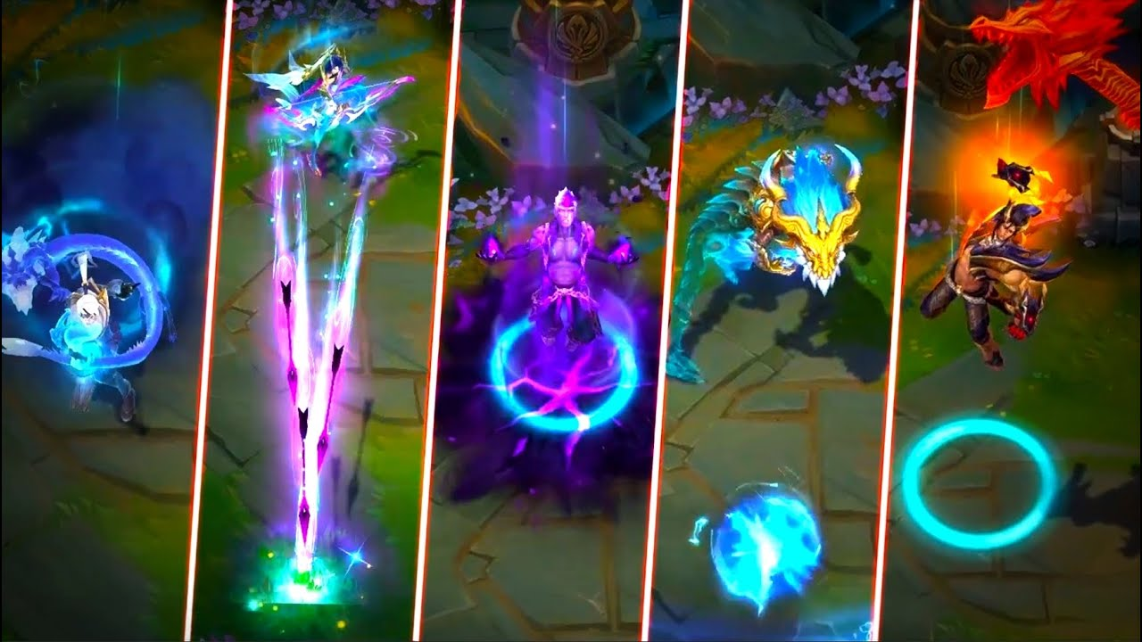 DRAGONMANCER LEE SIN LEGENDARY, ASHE, BRAND, AURELION SOL, SETT - League of Legends