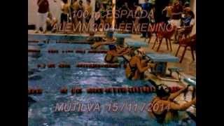 Natación Alevín Femenino 2004 - 100 m. Espalda - Mutilva (Navarra) 15/11/2014