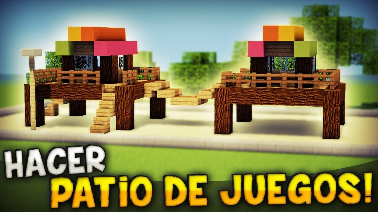 MINECRAFT COMO HACER UNA SUPER DIVERTIDA ZONA DE JUEGOSPATIO PARA TU CASA  YouTube