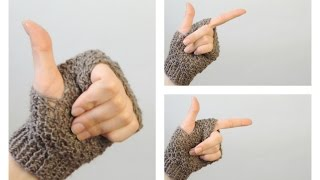Учимся вязать митенки на двух спицах | Школа вязания