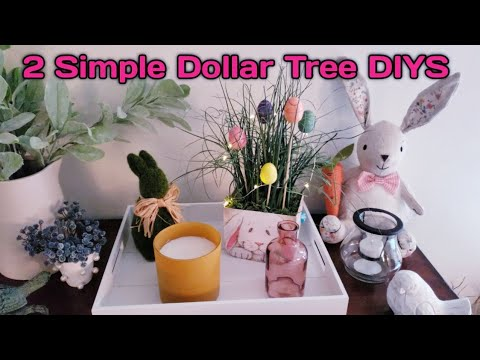 2 Dollar Tree DIYS 💕 Super Cute & Super Easy home Decor😊 For All Ages