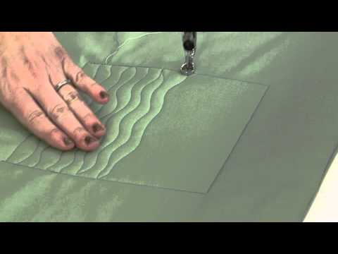Machine Quilting Designs: Wavy Lines
