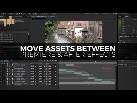 How to Quickly Move Assets Between Premiere and After Effects