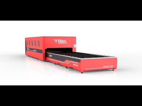 F6020HDE 6000W 22mm Aço Carbono. Baisheng Laser Fibra Industrial para corte de Metal