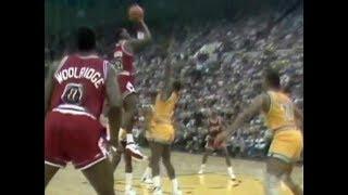 Michael Jordan - first (NBA) game-winning shot | Chicago Bulls (1984)