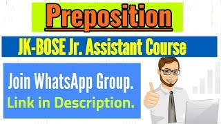 WhatsApp Group for JK-BOSE Jr  Assistant Exam | Join