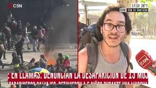 C5N en Chile: La represión en primera persona