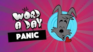 Learn your Word a Day: PANIC | with animals and sounds | Mrs Wordsmith