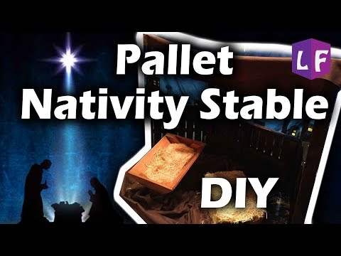 Pallet Nativity Stable DIY