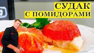 Судак с помидорами | Простой вкусный рецепт | ENG SUB.