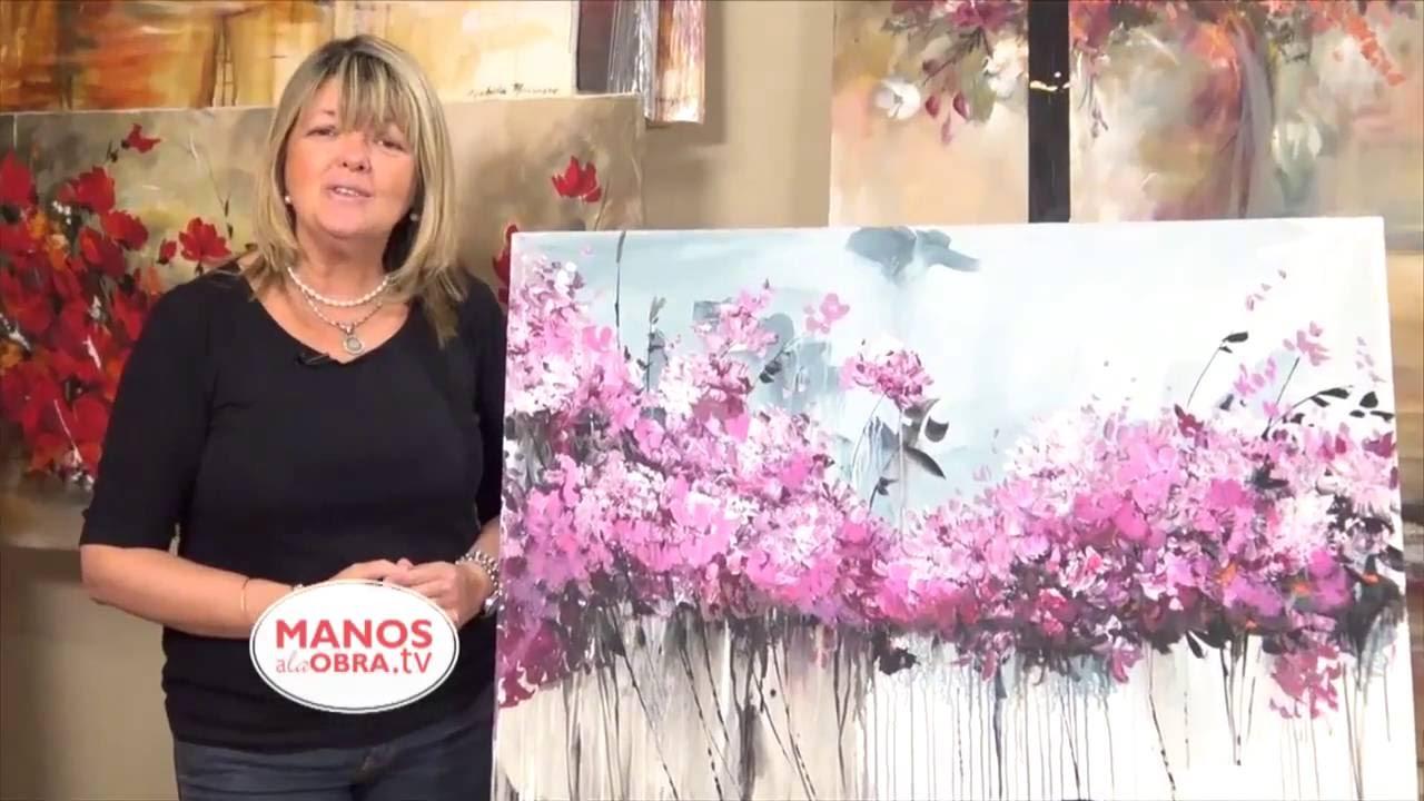 Pintar cuadro de hortensias acrilico gabriela mensaque - Cuadros para pintar ...
