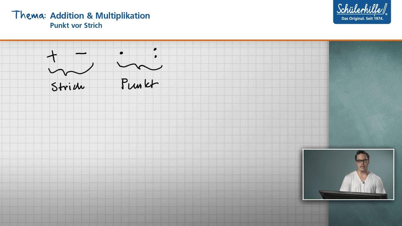 Addition & Multiplikation // Punkt vor Strich // Mathematik ...
