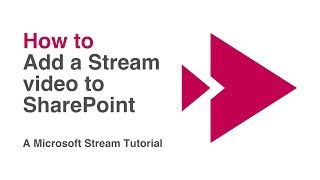 Add a Microsoft Stream Video to a SharePoint Page