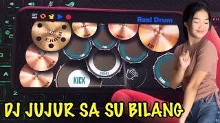 VIRAL DI TIK TOK !! DJ JUJUR SA SU BILANG X ANJING BANGET X AKI AKI   REAL DRUM COVER