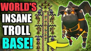 WORLD'S INSANE TROLL BASE | CAN LAVA HOUND TAKE DOWN THE AIR DEFENCE | CLASH OF CLANS