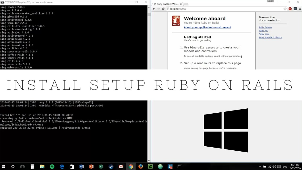 install ruby on rails