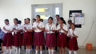 Sunbeam mughalsarai students.with Vijay sir teachers day song compose by Vinay Sir