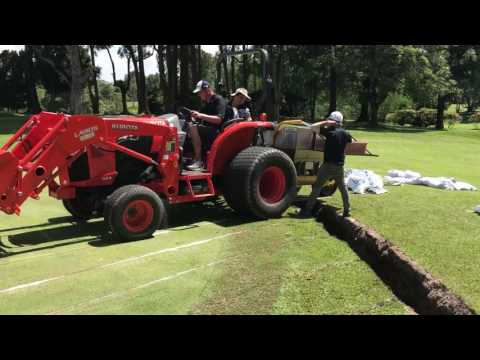 Installation of PCDrainage at Singapore Island Country Club