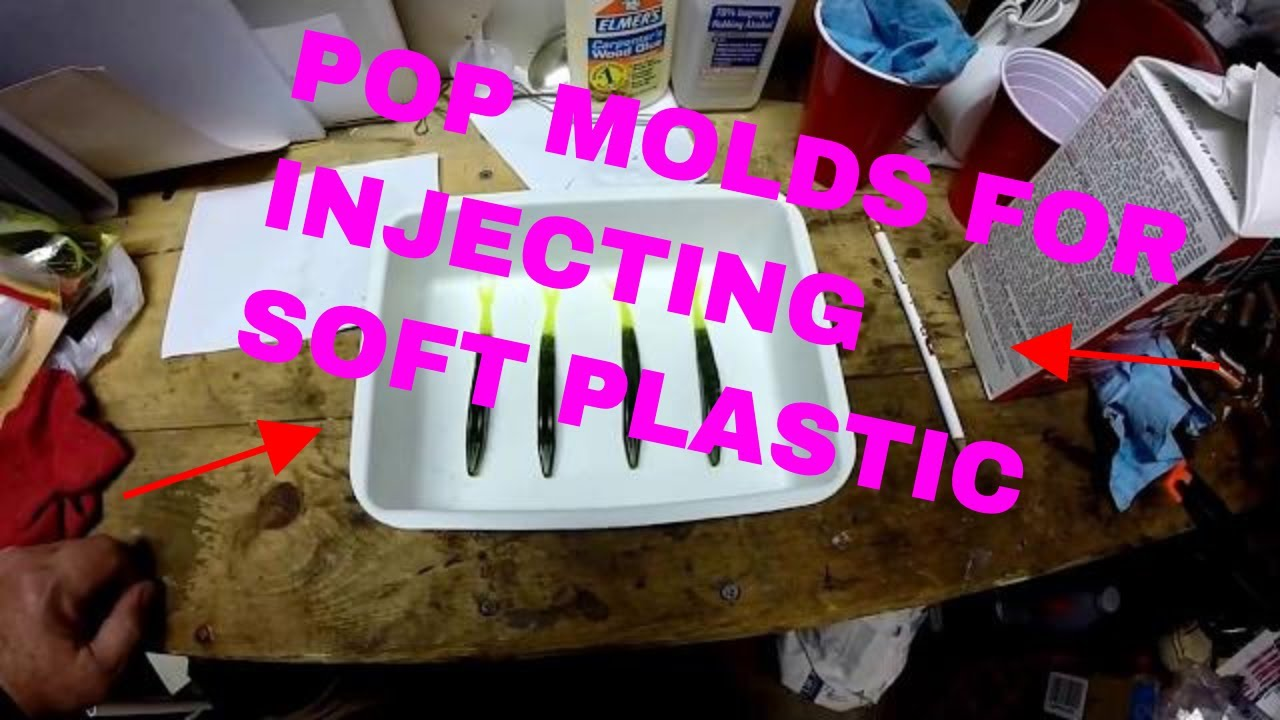 MAKING POP MOLDS FOR INJECTING SOFT PLASTIC FISHING BAITS
