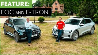 Electric SUVs. Mercedes-Benz EQC and Audi e-Tron. Review with Tiff Needell