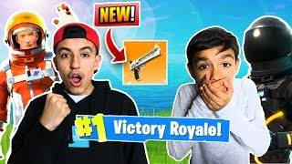 Fortnite *NEW* Battle Pass Duo With Little Brother! Victory Royale!