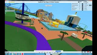 ROBLOX Theme Park Tycoon 2 Tidal Twister at SeaWorld San Diego 2019 Recreation HD POV roller coaster