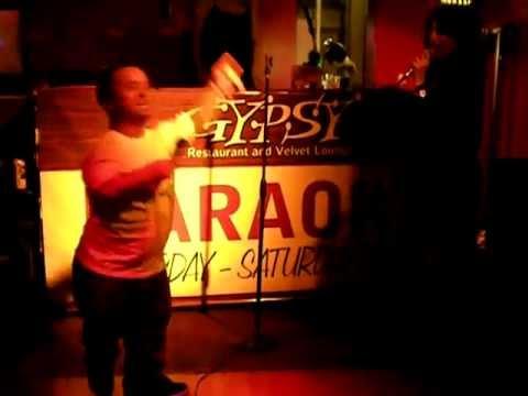 Wee Man and Rachel Fishman singing karaoke 2010