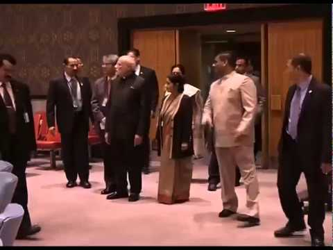 PM Modi at the United Nations Headquarters in New York