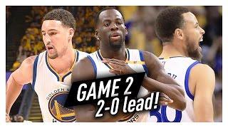 Stephen Curry, Klay Thompson & Draymond Green Game 2 Highlights vs Blazers 2017 Playoffs - SICK!