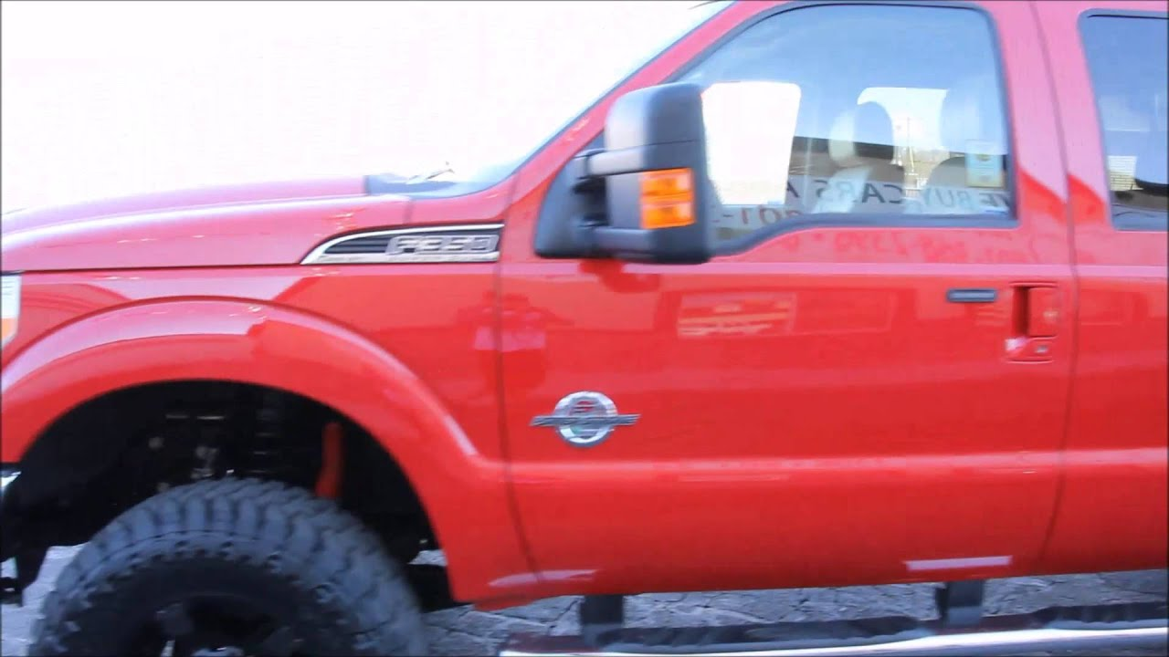 2012 Ford F-350 Super Duty LARIAT 4x4 POWERSTROKE DIESEL New LIFT TIRES WHEELS - Autos Inc - YouTube