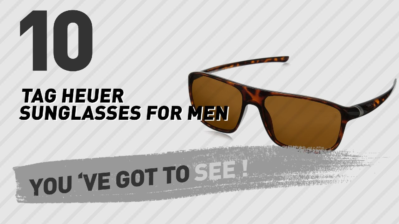 731f9a456e Top 10 TAG Heuer Sunglasses For Men    New   Popular 2017 - YouTube