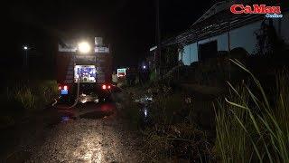 Cà Mau: Xưởng gỗ phát hỏa lúc nửa đêm tại xã Lý Văn Lâm
