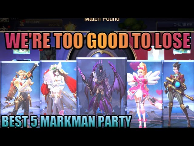BEST ALL MARKSMAN PARTY | WERE TOO GOOD TO LOSE | MOBILE LEGENDS