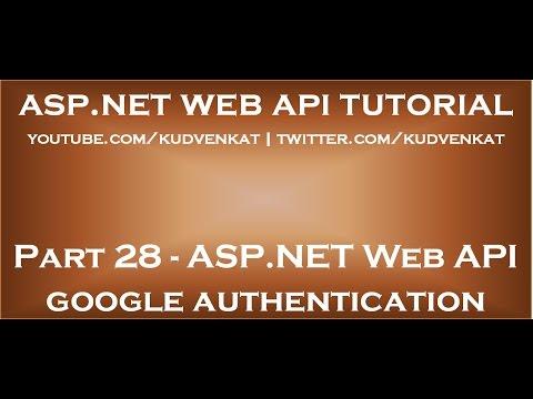 ASP NET Web API google authentication