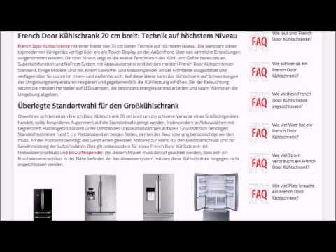 French Door Kuhlschrank 70 Cm Breit Test Empfehlung Ratgeber Youtube
