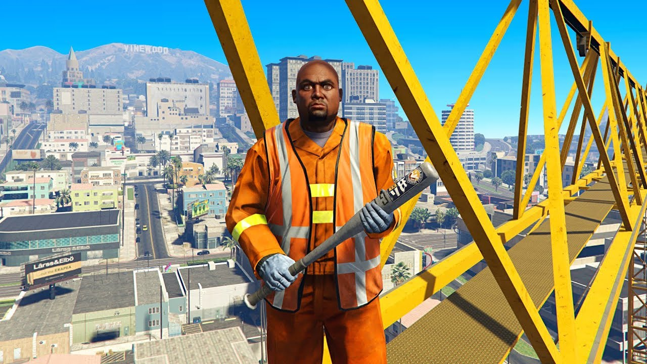 construction worker gets mad at me for climbing his crane gta rp