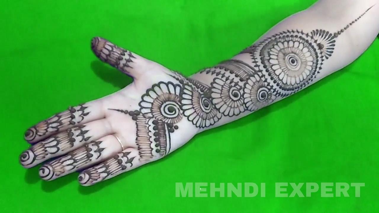 Flower Pattern Mehndi Designs : Mandala circle style flower henna design or mehndi