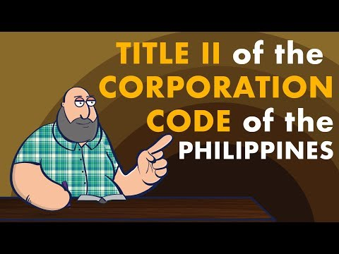 [CORPORATION CODE OF THE PHILIPPINES]  TITLE II - INCORPORATION OF PRIVATE CORPORATIONS