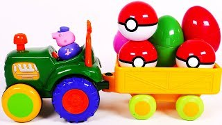 Tractor Surprise Eggs Toy for Kids and Children