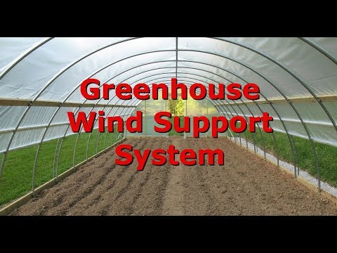 Greenhouse Frame Support System For High Wind