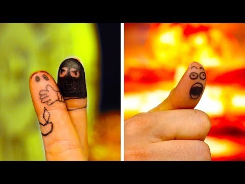 30 FUNNY FINGER ARTS AND CRAZY DOODLES