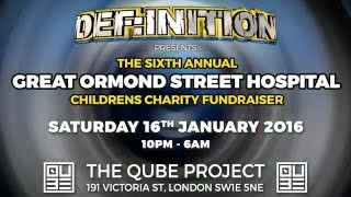 DEF:INITION EVENTS present THE 6TH ANNUAL GREAT ORMOND STREET CHARITY FUNDRAISER 2016 (ADVERT)